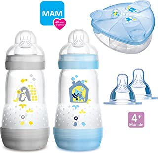 am botellas biberones Easy Active Juego Girl 2 x Baby Bottle 270 ml /& 2 x 330 ml Con Aspiradora Talla 1 /& 2 Incluye 2 x My Bottle asas Rosa