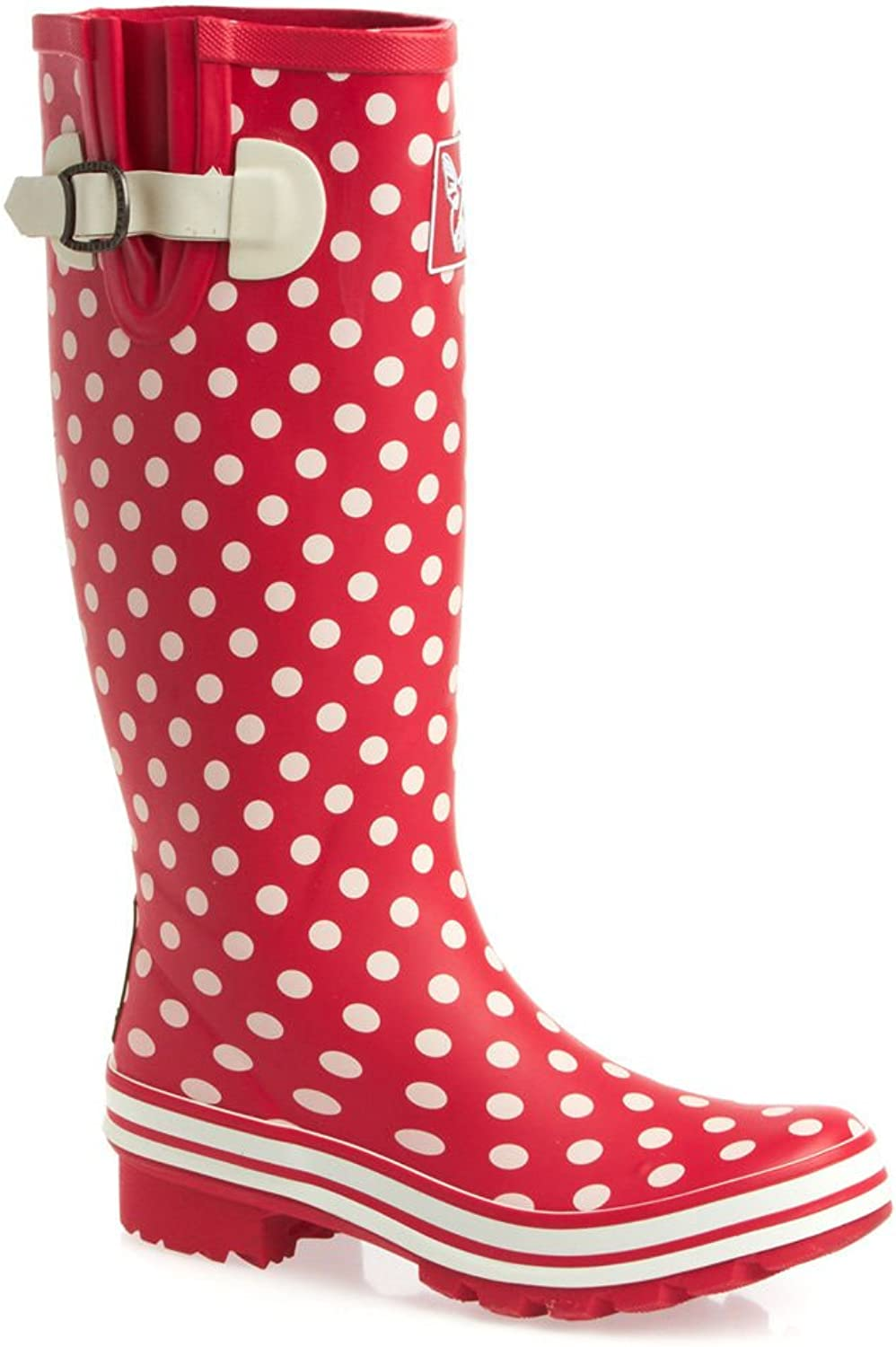 Evercreatures Ditsy Dots Wellies - Tall - UK8 EU41 US10 Red
