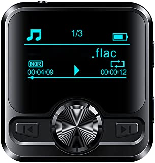 MP3 Player with Bluetooth 4.2, Hifi Lossless Sound MP3 Music Player, Built-In Speaker 1.2 Inch Full Touchscreen,Black,4G