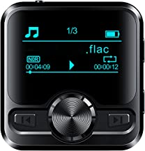 $66 » MP3 Player with Bluetooth 4.2, HiFi Lossless Sound MP3 Music Player, Built-in Speaker 1.2 Inch Full Touchscreen,Black,16G