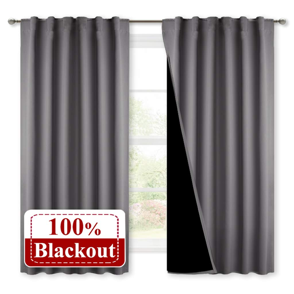 NICETOWN Blackout Insulated Efficiency Draperies