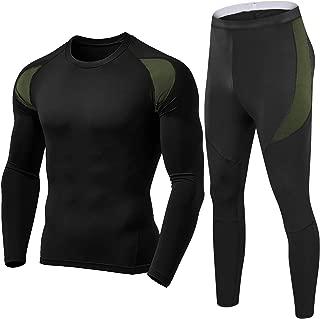 FASKUNOIE Men's Thermal Base Layer Long Sleeve Warm Up Underwear Long Johns Top & Bottom Set