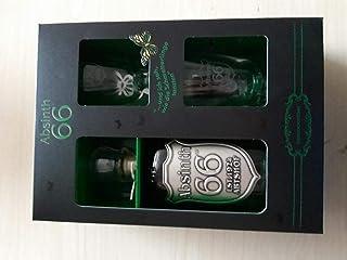 1 Geschenkbox Absinth a 500ml 66,6% Vol.  2 Gläser  2 Absinthlöffel Absinth Zucker