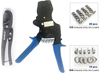 EFIELD PEX One Hand Ratchet Cinch Clamp Crimping Tool for Clamps Sizes: 3/8