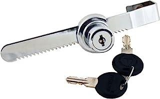 FJM Security, 0220-KA, Sliding Door Ratchet Lock, Chrome Finish, MEI-0220-KA
