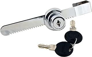 FJM Security 0220-KA Sliding Door Ratchet Lock with Chrome Finish, Keyed Alike