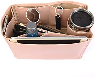 Lindy 30 Deluxe Leather Handbag Organizer in Blush Pink Color, Leather bag insert for Hermes Lindy 30, Express Shipping