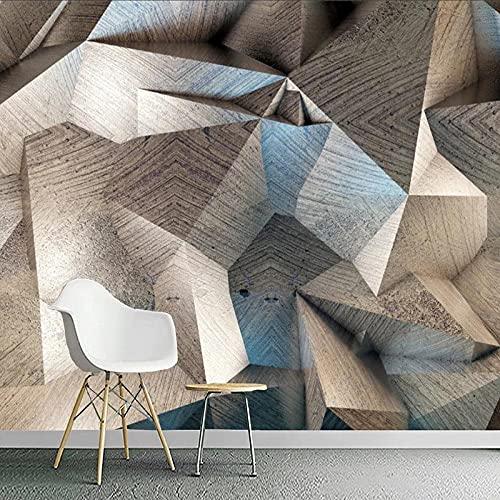 Moderno 3D Estereoscópico Abstracto Geométrico Enrejado Foto Pared Tela Sala De Estar TV Telón De Fondo Decoración Del Hogar Murales
