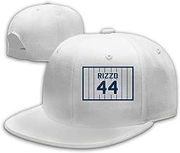 Men Women Anthony-Rizzo-Number #44 Baseball Cap Classic Adjustable Plain Hat White
