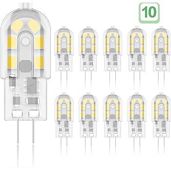 Dicuno G4 Led Lampe 1 2w Ac Dc 12 V Mit 120 Lm Warmweiss 3000k Smd Ersatz Fur 10w Halogen Lampen Nicht Dimmbar Kein Flackern 10 Er Pack Amazon De Kuche Haushalt