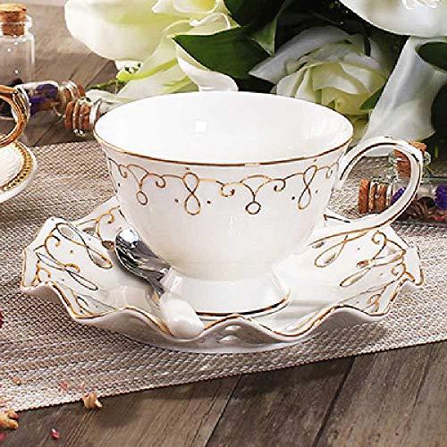 xiaojiangqi Tee-Set Keramik Kaffeetasse Set Erweiterte Bone China Kaffeetasse Gericht Mit Löffel Hause Freizeit Kaffee Milch Tasse Weiß