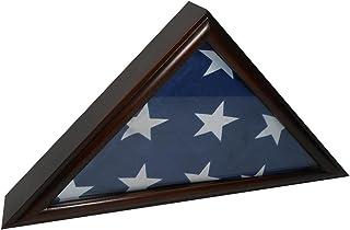 Best USMilitaryStuff Memorial Flag Case - Cherry Finish - for American Veteran 5