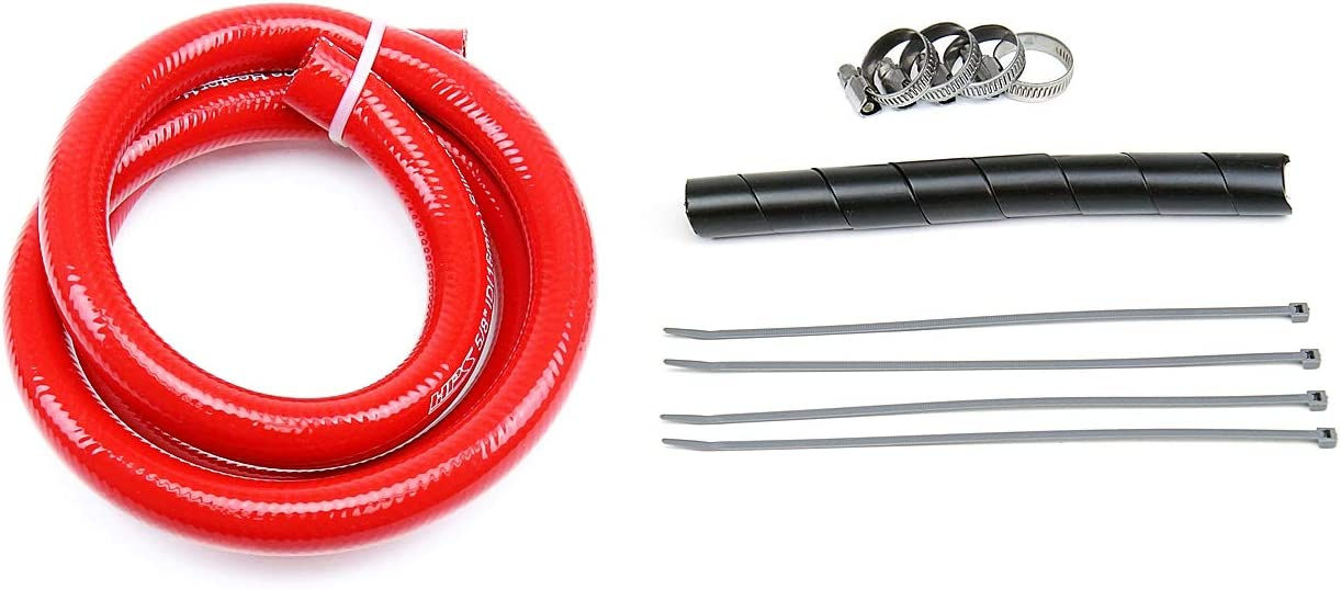 HPS 57-1335-RED XJ Silicone Louisville-Jefferson County Mall Heater Hose Kit Coolant outlet