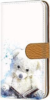 HTC J butterfly HTL23 用 手帳型 カードタイプ すまほケース [テディベア・ブルー] ぬいぐるみ くま エイチティーシー ジェー バタフライ au 楽天モバイル ワイモバイル カード収納 スタンド式 スマホカバー けいたい...
