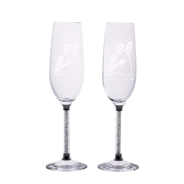 Custom Text Crystal Glass Handmade Wine Champagne Su Max 50% OFFer OFF