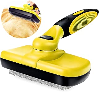 ALLYAOFA Self Cleaning Brush Slicker for Dog Cat, Pet Grooming Brush Needle to Remove Tangles and Loose Fur, Suitable for ...