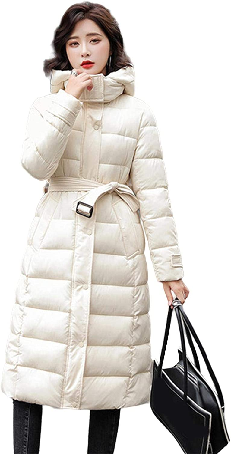 watersouprty Women's Long Down Jacket Color Solid Hooded Puffer Time sale famous