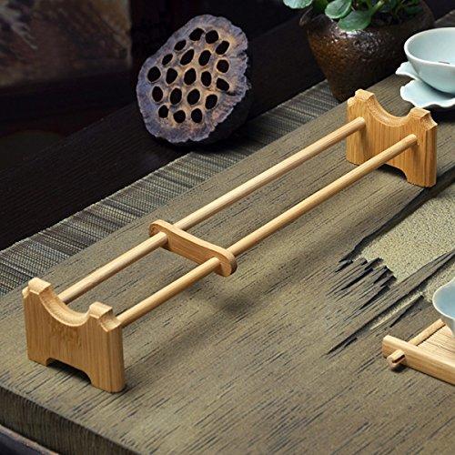 INOVEY natuurlijke bamboe thee beker houder enkele laag thee beker houder Kungfu thee toegang