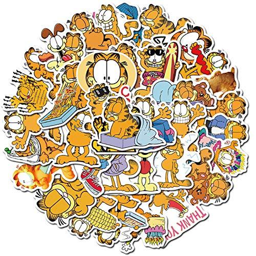 QIANGWEI Sticker 50 stuks cartoon kat auto motorfiets reistas telefoon gitaar gitaar skateboard waterdicht grappig