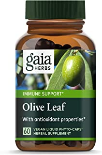 Gaia Herbs Olive Leaf, Vegan Liquid Capsules, 60 Count - Daily Immune Support and Cardiovascular Health Supplement, Antiox...