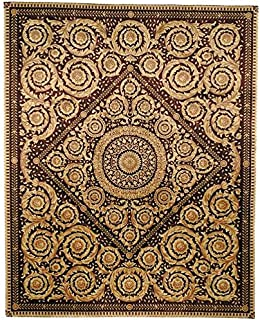 Safavieh Handmade Couture Florence Royal Crest Beige/Burgundy Wool Area Rug (China) - Multi - 4' x 6'