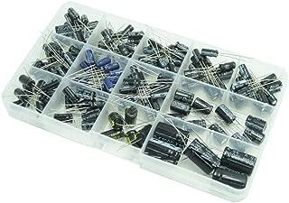 WINGONEER Capacitors 13 Values Total 200 PCS 0.47uF to 1000uF Electrolytic Capacitors Assortment Kit