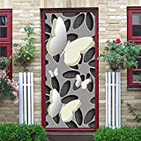 Fresh Rose Doors Sticker Carta da parati adesiva Vinile rimovibile impermeabile Decalcomanie Decorazione Della Stanza Poster A21 90x200cm