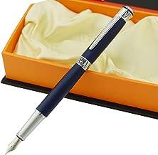 Picasso 903 Fountain Pen Matte Blue Purple Fine Nib Sweden Flower King on Top with Gift Pen Box Set
