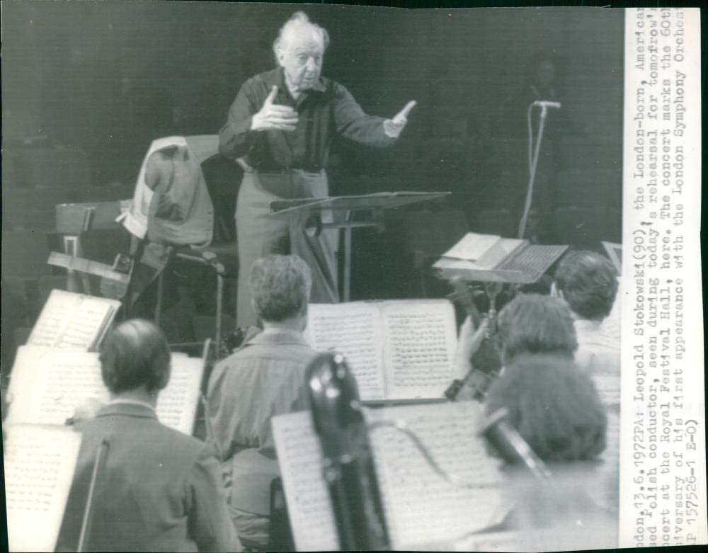 Vintage Max 73% OFF photo Max 72% OFF of Stokowski Leopold Conductor.