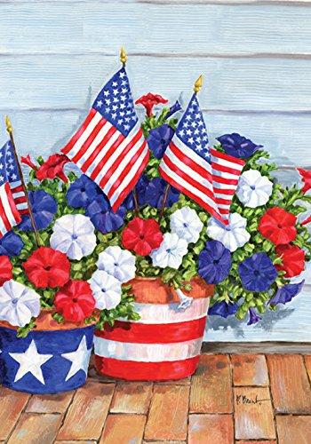 Toland Home Garden Patriotische Stiefmütterchen, Bunt