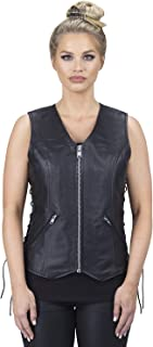 Viking Cycle Haughty Motorcycle Leather Vest For Women