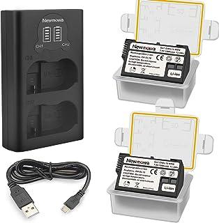 Newmowa EN-EL15 Batería de Repuesto (Paquete de 2) y Smart LCD Cargador Dual USB para Nikon EN-EL15 y Nikon 1 V1, D600, D6...