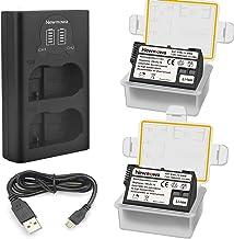 Newmowa EN-EL15 Batería de Repuesto (Paquete de 2) y Smart LCD Cargador Dual USB para Nikon EN-EL15 y Nikon 1 V1, D600, D610, D800, D800E, D810, D7000, D7100,D7200