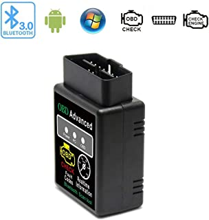 Friencity Bluetooth Car OBD ii 2 OBD2 Scanner Adapter, Vehicle Engine Code Reader for Car Diagnostic Scan Tool Check Engine Light, Compatible with Android & Windows Devices, NOT for iOS Devices