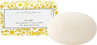 ロリア(LoLLIA) フレグランスソープ140g AtLast(化粧石けん 全身用洗浄料 ライスフラワー、マグノリアとミモザの柔らかな花々の香り)