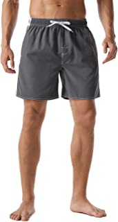 Nonwe Men's Swim Trunks Water Sport Printed Quick Dry Drawsting