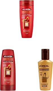 L'Oreal Paris Hair Expertise Colour Protect Shampoo, 360ml+L'Oreal Paris Hair Expertise Color Protect Conditioner, 175ml+L'Oreal Paris Smooth Intense Instant Smoothing Serum, 100ml