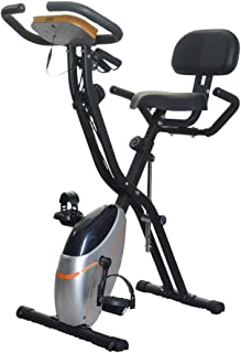BTM フィットネスバイク エアロバイク コンフォートバイク 折りたたみ可能 長い時間乗っても劣化しない 負荷調整できるエクササイズバンド付き 背もたれフィットネスバイク マグネット式静音