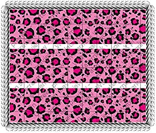 Hottie Spots Pink Leopard Congratulations Birthday Bachelorette Wedding Celebration Cake Borders Designer Prints Edible Cake DecorationB00Q3K1O10