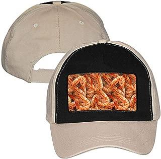 MYHAT Unisex Adjustable Baseball Cap Shrimp Food Pattern Camouflage Trucker Hat Sports Printed Hipster Hat