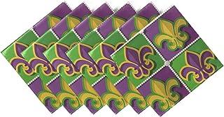 CaTaKu Serviette de table en tartan tribal, serviettes de table et réutilisables pour fête, maison, cuisine, 20 x 20 cm Dé...