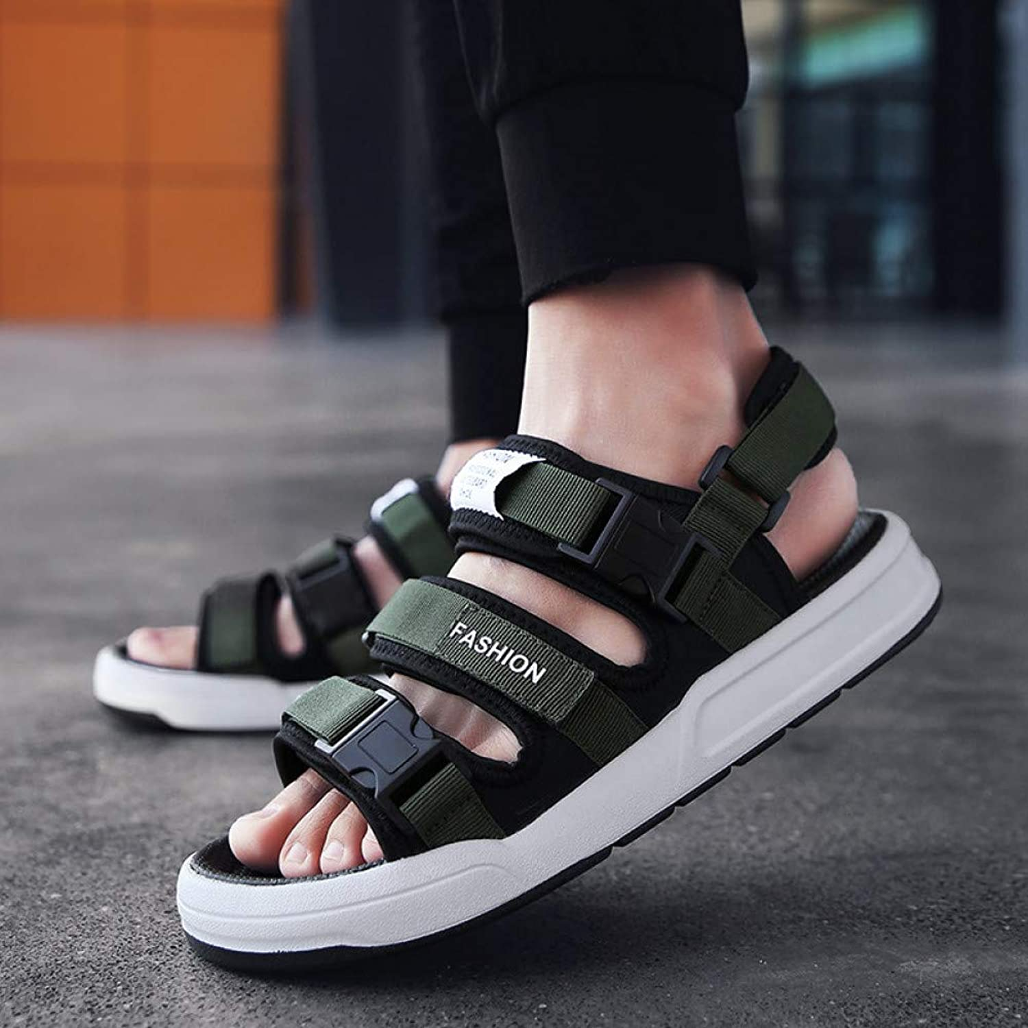 GJLIANGXIE Men'S Sandals Summer New Outdoor Sandals Male Korean Version Of The Wild Beach Sandals And Slippers Men'S Casual Vietnamese Tide Sandals
