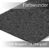 casa pura Premium Farbwunder Kunstrasen Rasenteppich mit Noppen in Meterware – Anthrazit, (200 x 300 cm)