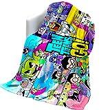 Sadie Mae Te-en Ti-tans G-o Blanket Ultra-Soft Micro Fleece Throw Blankets Warm Fluffy Cartoon Throws for Kids Girls Boys Bedding Sofa and Travel All Seasons 50 X40 inch
