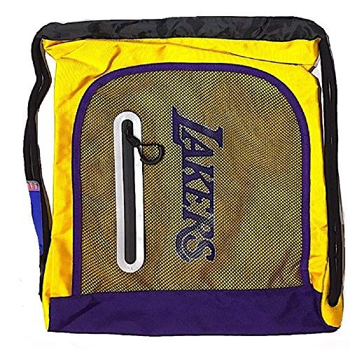 Franco Panini. Sacca NBA Los Angeles Lakers Zainetto Coulisse Palestra Scuola 43x33 cm