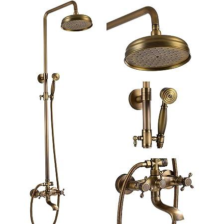 "8/"" inch Antique Brass Round Rainfall Rain Bathroom Shower Head fsh242"