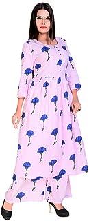 Fashion Farmer's Baby pink kurta with palazzo for women palazzo set