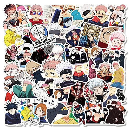 MLFL 10/30/50 / 100pcs Anime Jujutsu Kaisen Graffiti Adesivi per Laptop Skateboard Bagagli Moto Impermeabile Decalcomania Adesivo Giocattolo (Color : 50PCS)
