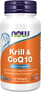 NOW Supplements, Krill & CoQ10, Phospholipid-Bound Omega-3, 60 Softgels