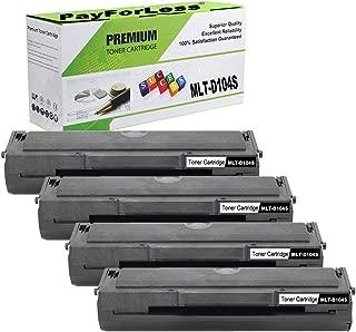 PayForLess Compatible for MLT-D104S 104S Toner Cartridge Black for Samsung ML-1665 1860 1865W 1660 1661 1660K 1665K 1661K 1670 1676 1677 1675 SCX-3200 3217 3210 3205W